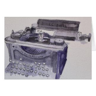 De Schrijfmachine van de Corona van Smith Kaart