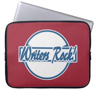 De schrijvers schommelen het Logo Blauwe Grunge Computer Sleeve