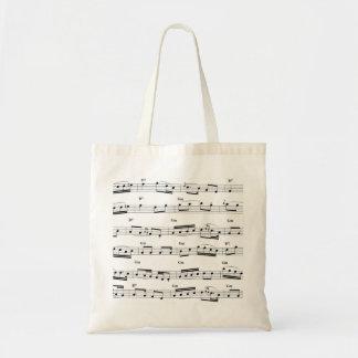 De Score van de muziek Draagtas