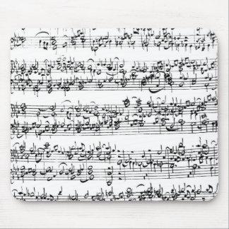 De Score van de muziek van Johann Sebastian Bach Muismat