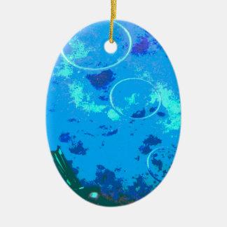 De scuba-duiker van Hawaï Keramisch Ovaal Ornament
