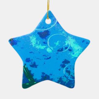 De scuba-duiker van Hawaï Keramisch Ster Ornament