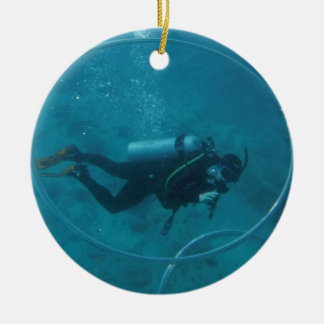 De scuba-duiker van Hawaï Rond Keramisch Ornament