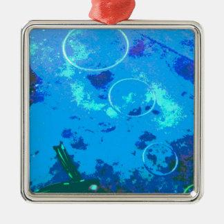 De scuba-duiker van Hawaï Zilverkleurig Vierkant Ornament