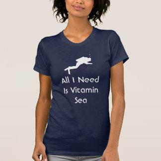 De scuba-uitrusting Al Behoefte van I is het Zee T Shirt