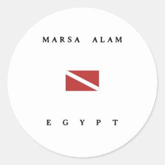De Scuba-uitrusting van Alam Egypte van Marsa Ronde Sticker