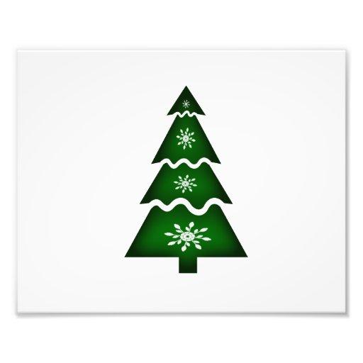 De Sectionele w sneeuwvlokken van de kerstboom Fotoafdruk