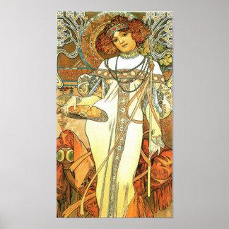De seizoenen: De herfst - Alphonse Mucha (1900) Poster