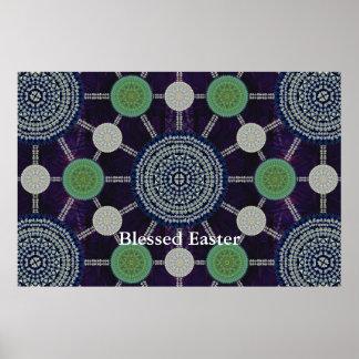 De Serie van Mandala van de Lelie van Pasen Poster