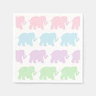 De servetten van de de olifantencocktail van de wegwerp servetten