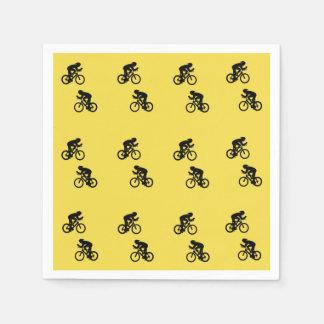 De servetten van de fietser, servetten papieren servetten