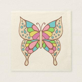De Servetten van de Vlinder van de pastelkleur Papieren Servet