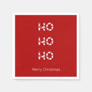 De Servetten van Ho Ho Ho van Kerstmis Papieren Servet