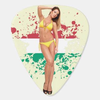 De sexy oogst van de Gitaar van het bikinimeisje Plectrum