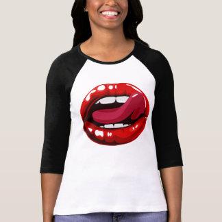 De sexy T-shirt van Lippen voor Vrouw