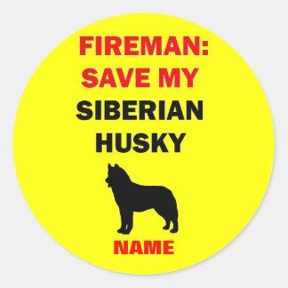 De Siberische Schor Brandveiligheid van de douane Ronde Sticker