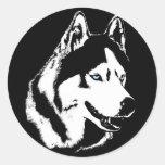 De Siberische Schor Stickers Malamute van schor St