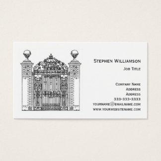 De sier Architecturale Poort van het Metaal van Visitekaartjes