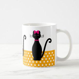 De Silhouetten van de kat Koffiemok