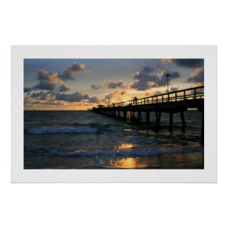De Silhouetten van de Pijler van Lauderdale Poster