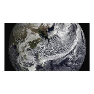 De simulatie van de wolk van één enkele dag 3 fotoafdrukken