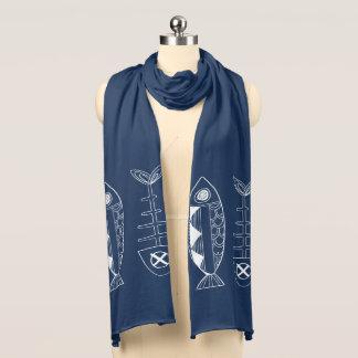 De Sjaal van Jersey van de Marine van vissen Sjaal