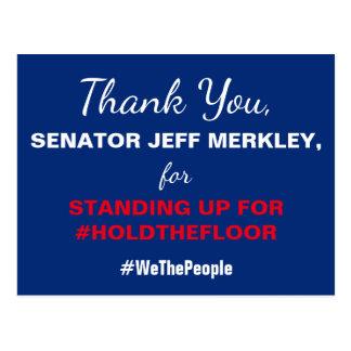 De sjabloon dankt u #HoldTheFloor van de Senator Briefkaart