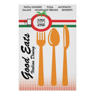 De Sjabloon het Casual Dinerende Italiaans van het Poster