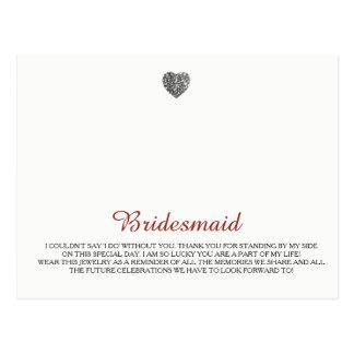 De Sjabloon van de Juwelen van bruidsmeisjes Briefkaart