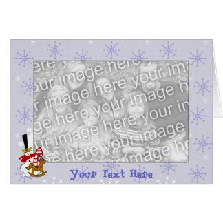 De Sjabloon van de kaart - Sneeuwman & Kerstmis