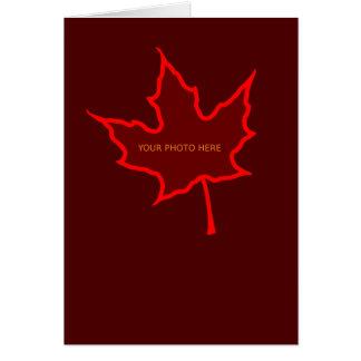 De Sjabloon van de Kaart van het blad Briefkaarten 0