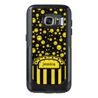 De Sjabloon van de Naam van PolkaDot van Smiley OtterBox Samsung Galaxy S7 Hoesje