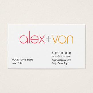 de Sjabloon van het Visitekaartje van Alex von Visitekaartjes