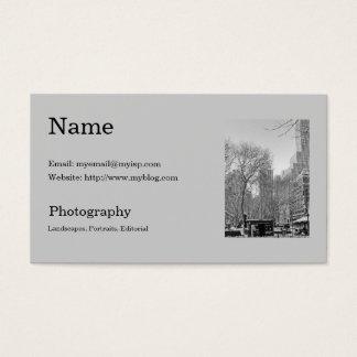 De Sjabloon van het Visitekaartje van de fotograaf Visitekaartjes