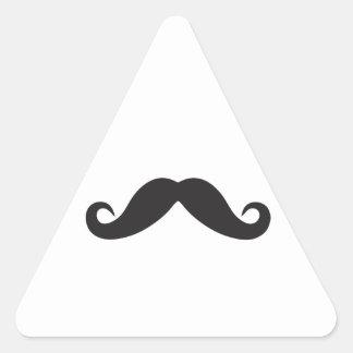 De Sjabloon van Qpc van de snor Driehoekige Sticker