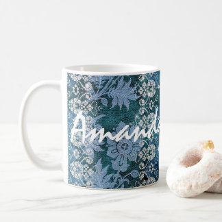 De sjofele Elegante Diamant van het Kant Koffiemok