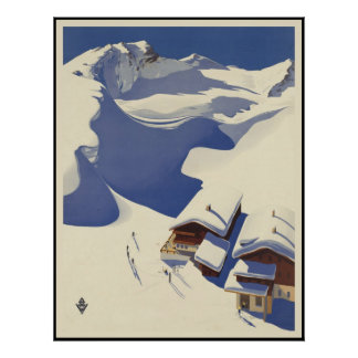 De Ski van Oostenrijk brengt in de Alpen onder Poster