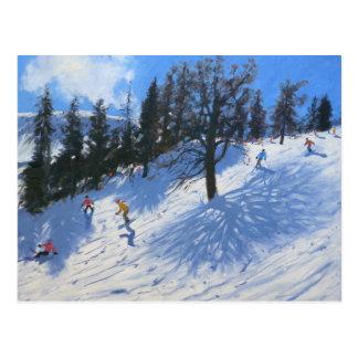 De skiërs Verbier 2010 van de lente Briefkaart