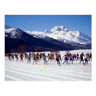 De skimarathon van Engadin, Silvaplana, Briefkaart