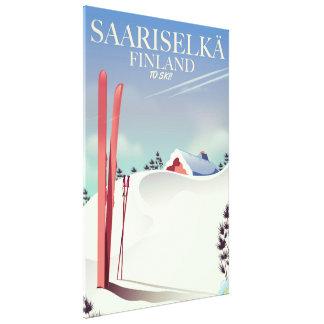 De skiposter van Finland van Saariselkä Canvas Print