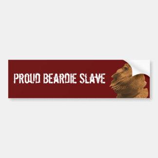De Slaaf van Beardie Bumpersticker