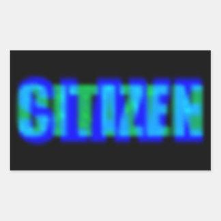 De Slaaf van de burger Rechthoekige Sticker