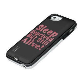 De slaap beroofde maar nog Levend in Framboos iPhone SE/5/5s Batterij Hoesje