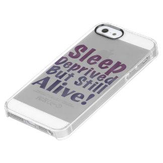 De slaap beroofde maar nog Levend in Slaperige Doorzichtig iPhone SE/5/5s Hoesje
