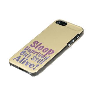 De slaap beroofde maar nog Levend in Slaperige Incipio Feather® Shine iPhone 5 Hoesje