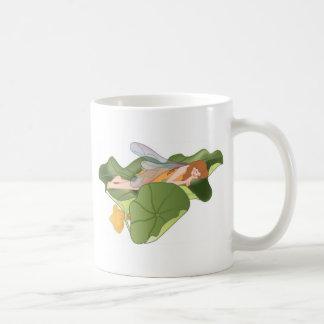 De Slaap van de fee op de Bladeren van Lotus Koffiemok