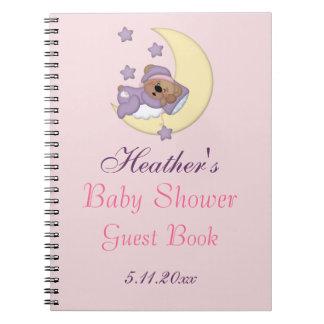 De Slaap van de teddybeer op de Maan, Baby shower Notitieboek