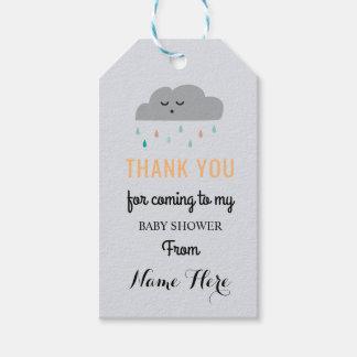 De Slaap van het Baby shower van de wolk bestrooit Cadeaulabel