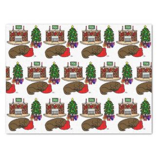 De Slaap van Labrador van de Chocolade van Tissuepapier