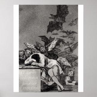 De slaap van Reden produceert Monsters Poster